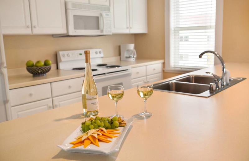 Guest kitchen at Edgewater Resort.