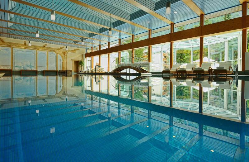 Indoor pool at Seiler Hotel Mont Cervin & Residence.