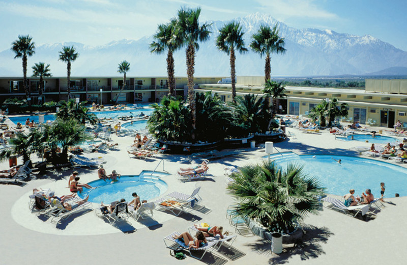 Outdoor pool at Desert Hot Springs Spa Hotel.
