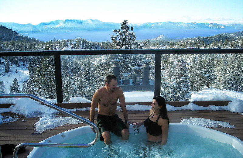 Hot tub at The Ridge Resorts.