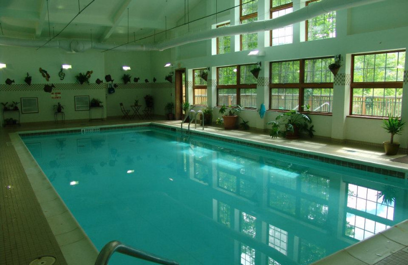 Indoor pool at Hanah Mountain Resort & Country Club.