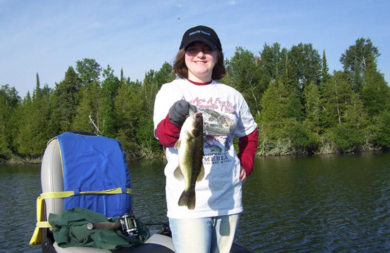Fishing at Eagle Ridge Resort.