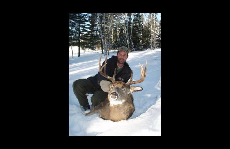 Deer hunting at Stokes Bay Resort.