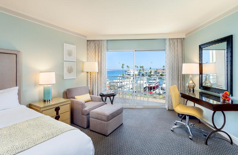 Guest room at Sea Spa At Loews Coronado.