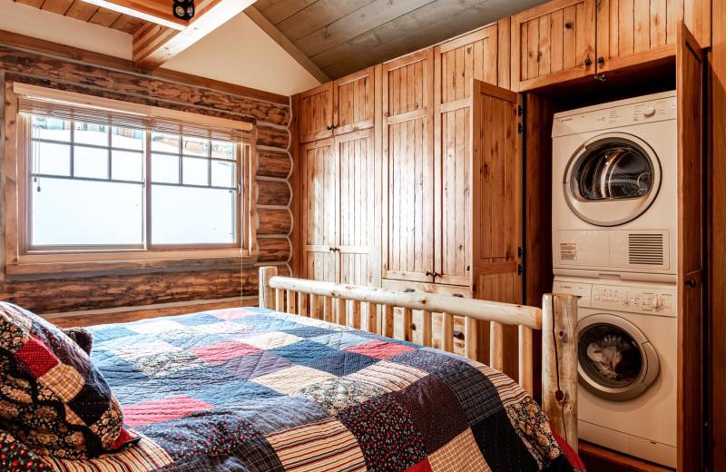 Rental bedroom at Moonlight Rentals in Big Sky.