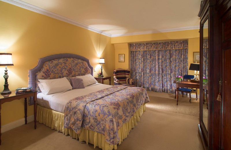 Guest room at Ahernes Seafood Restaurant and Luxury Hotel.