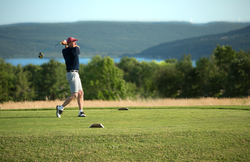 Golf course at Bristol Harbour Resort on Canandaigua Lake.