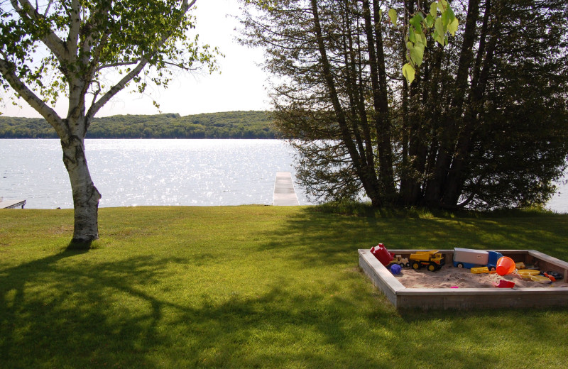 Lake view at Fisher's Lakeside Cottages.