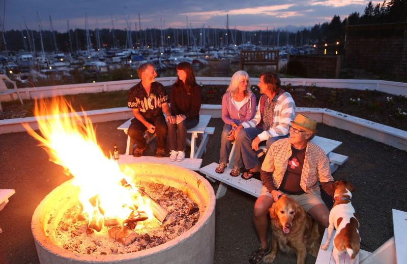 Bonfire at The Resort At Port Ludlow.