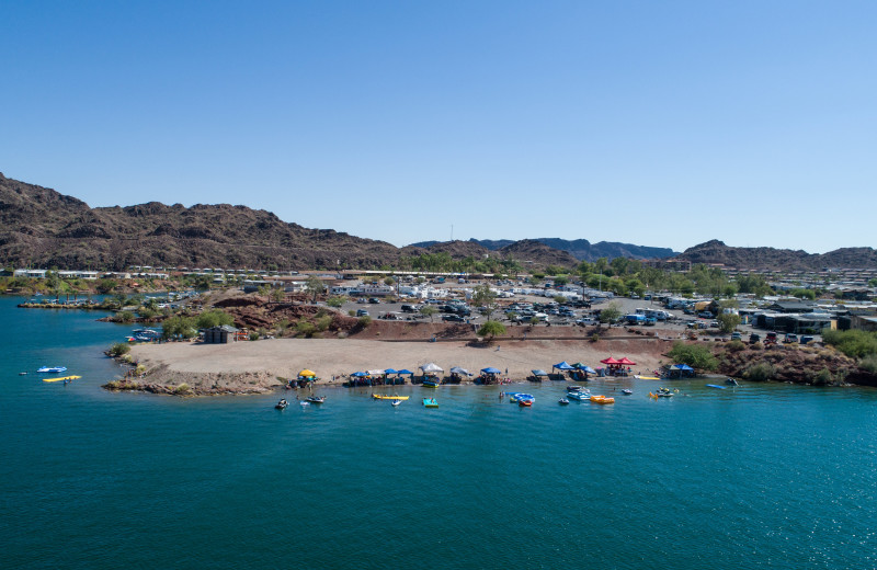 Beach at Havasu Springs Resort.