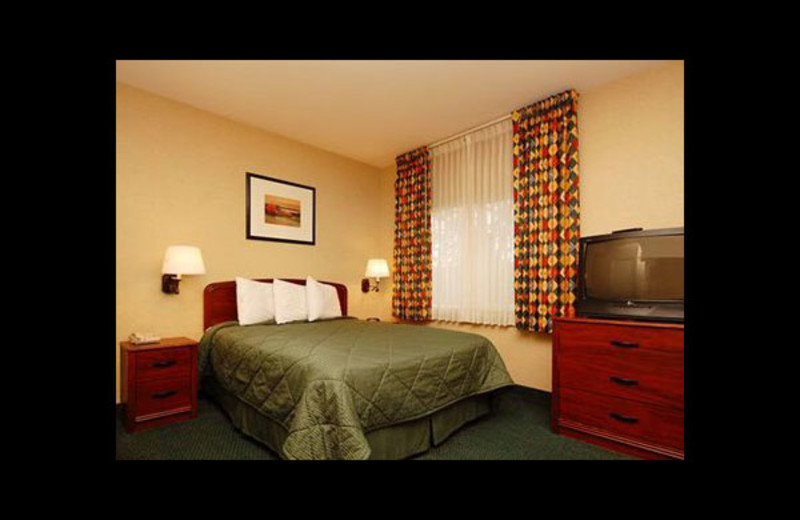 Guest room at Mainstay Suites Hayward.