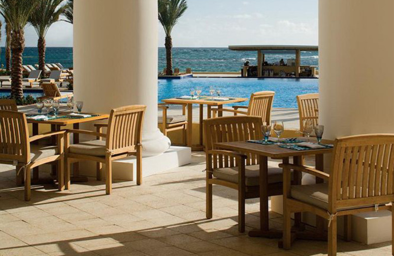 Outdoor dining at The Westin Dawn Beach Resort & Spa.