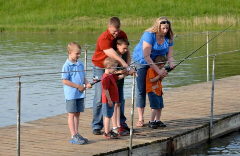 Fishing at YMCA Trout Lodge & Camp Lakewood.