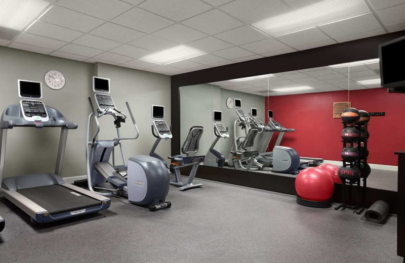 Fitness room at Homewood Suites by Hilton Ft. Myers Bell Tower Hotel.