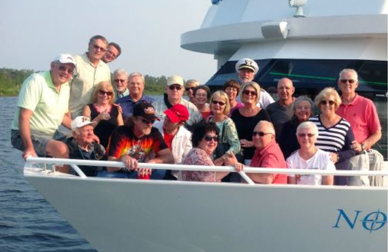 Group on a Gull Lake Cruise.
