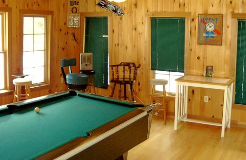 Game room at Panther Lodging.