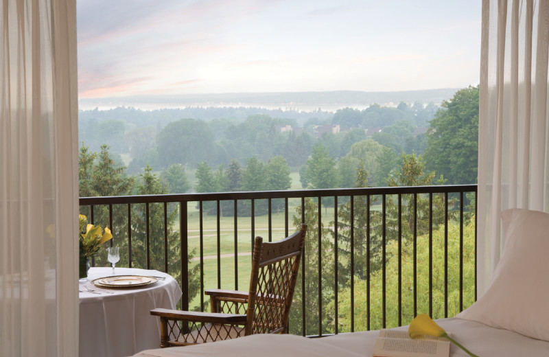 Guest balcony at Grand Traverse Resort and Spa.