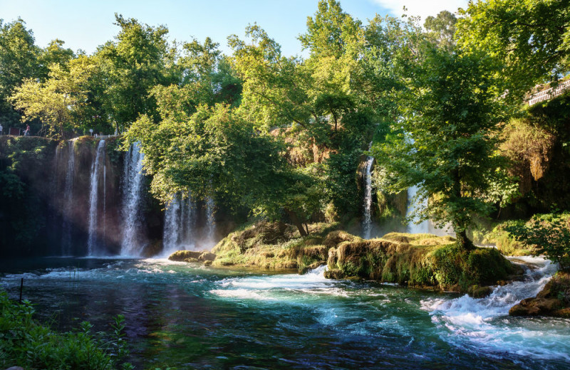 Waterfall near Del Lago Resort & Casino.