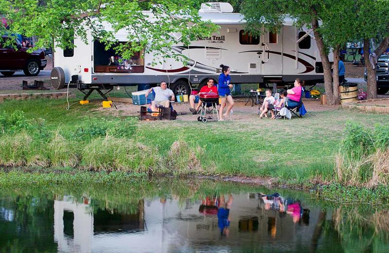 Camping at Inks Lake State Park.