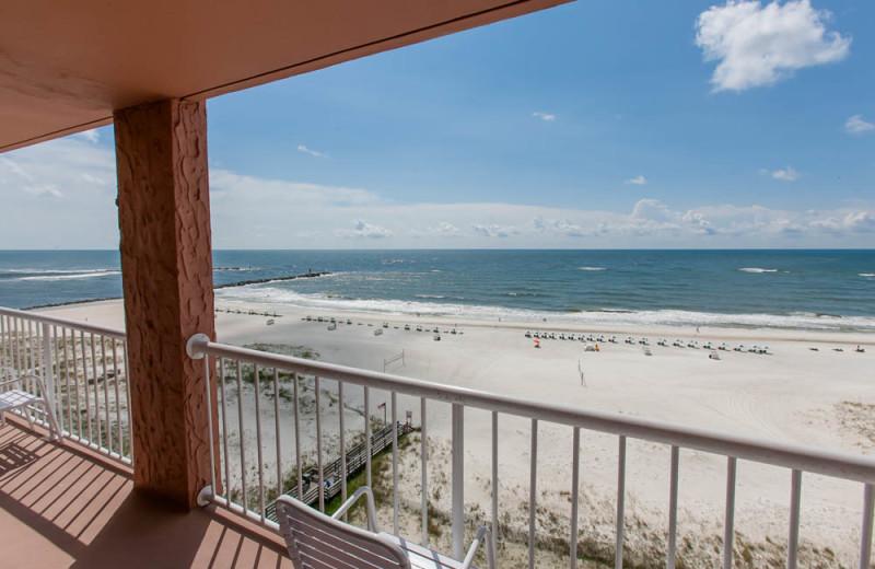Ocean view at Perdido Beach Resort.