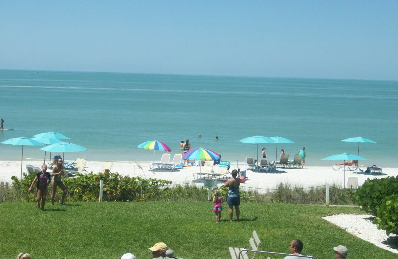 Beach at Vanderbilt Vacations.