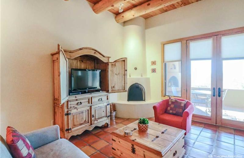 Rental living room at Vacation Rental Pros - Santa Fe.