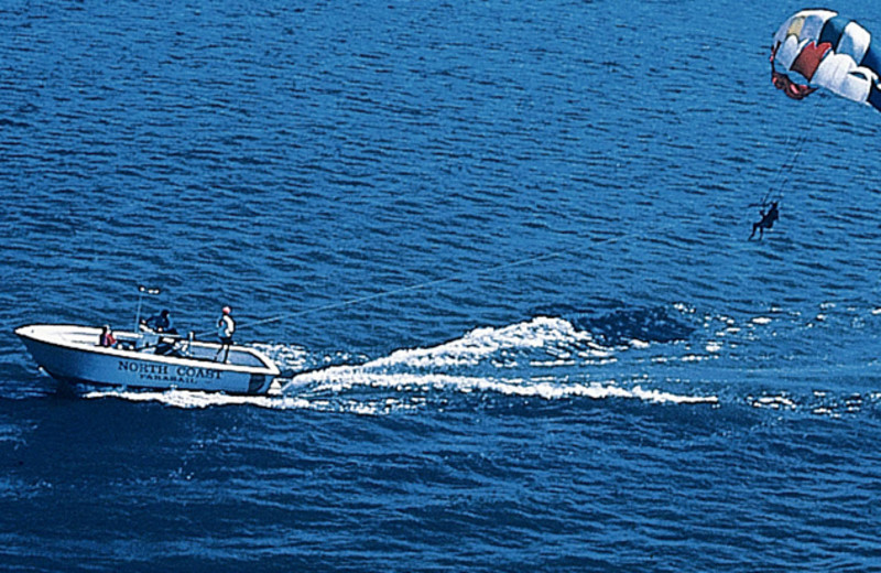 Para sailing at Cedar Point Resort.