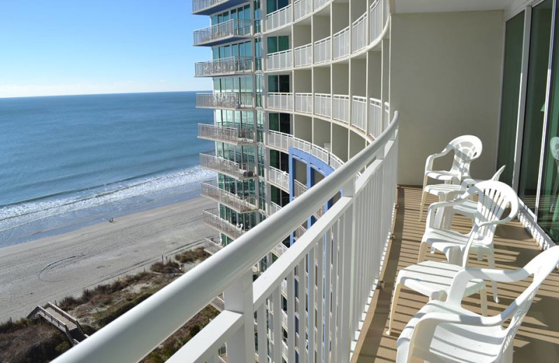 Balcony view at Avista Resort.