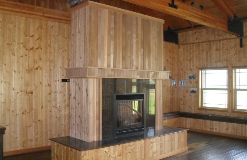 Fireplace at Carson Hot Springs Spa and Golf Resort.