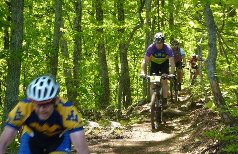 Biking at Wintergreen Resort.