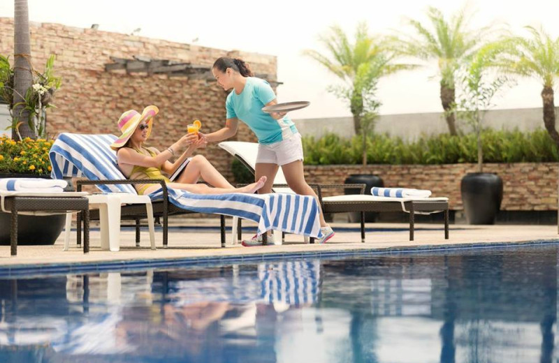Outdoor pool at The Hotel Jen Manila.