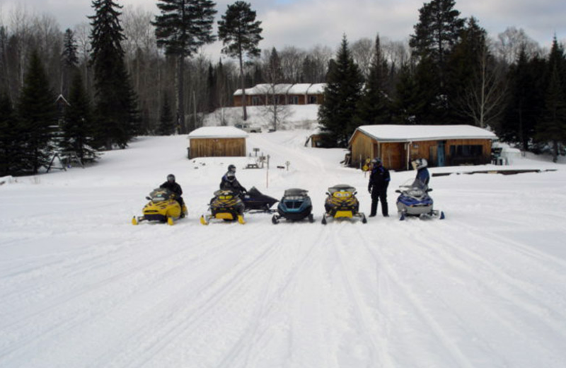 Snowmobiling at Auld Reekie Lodge