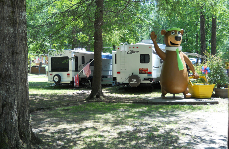 Camping at Yogi Bear's Jellystone Resort Cherokee.