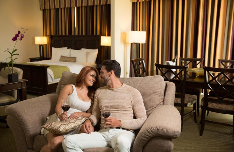 Guest room at Verdanza Hotel.