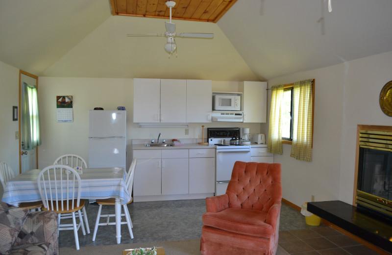 Cottage kitchen at Highland View Resort.