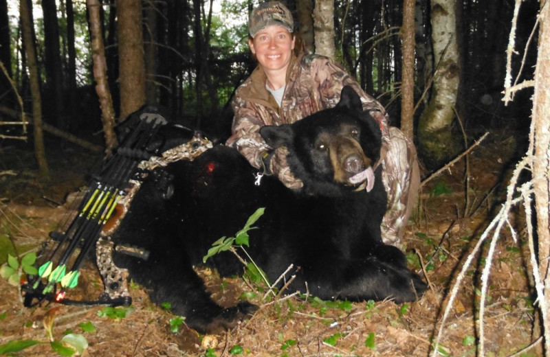 Bear hunting at Rainbow Point Lodge.