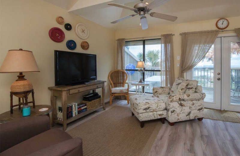 Rental living room at Molokai Villas Perdido Key.
