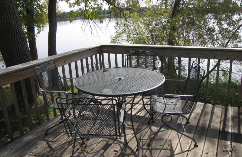 Cabin deck at Mill Lake Resort.