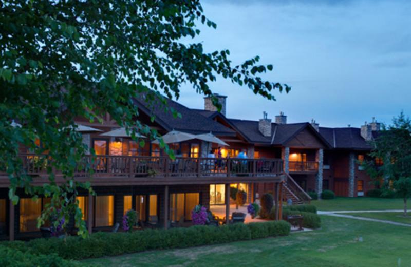 Exterior view of Sugar Lake Lodge.