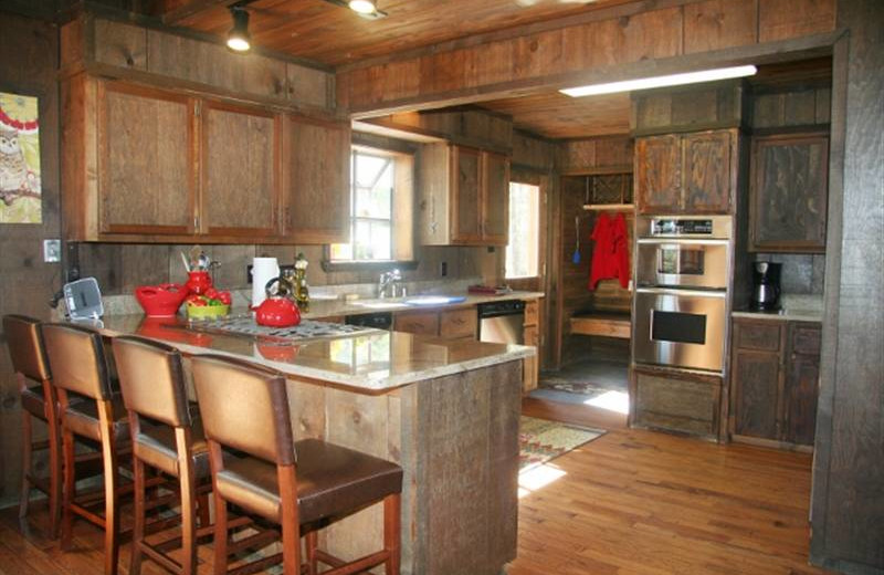 Cabin kitchen at Resort Properties of Angel Fire.