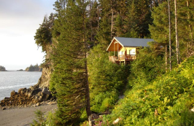 Cabin exterior at Otter Cove Resort.