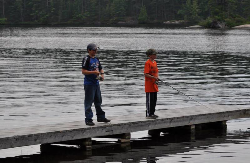 Fishing at Memquisit Lodge