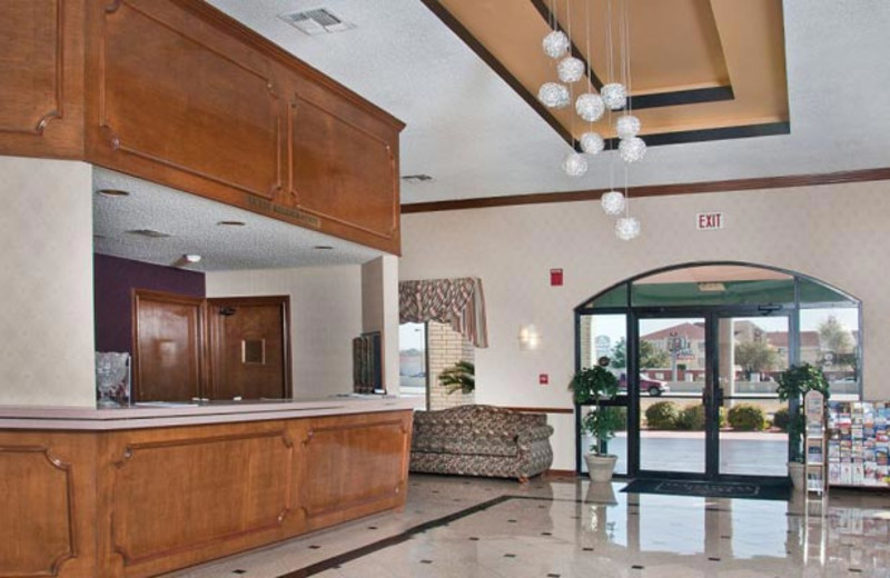 Front desk at Best Western Ingram Park Hotel.