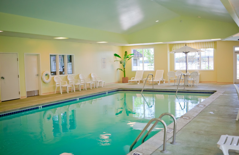 Indoor pool at Bay Pointe Inn Lakefront Resort.