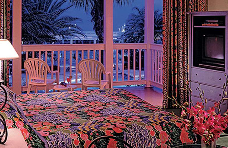 Guest bedroom at Hyatt's Sunset Harbor Resort.