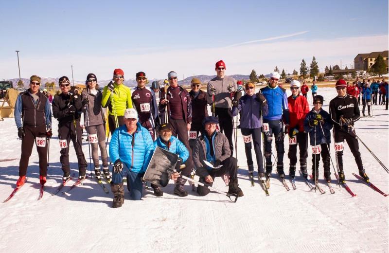 Skiing at Bryce View Lodge.