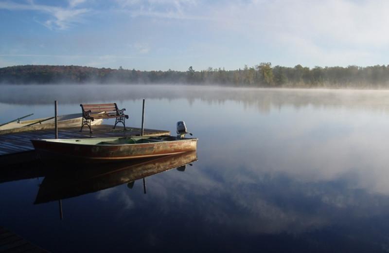 Lake view at Ghost Lake Lodge.