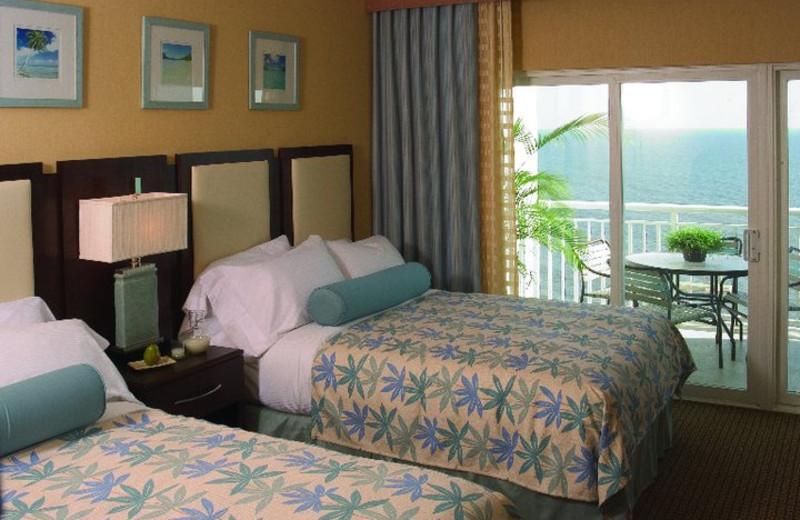 Ocean view room at Hilton Suites Ocean City Oceanfront.