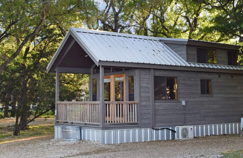 Cabin exterior at Yogi Bear's Jellystone Park™ Guadalupe River.
