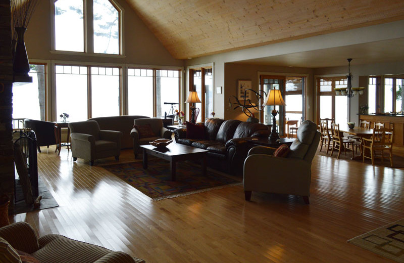 Rental living room at Island Vacation Homes.